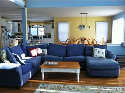 Popponesset, Mashpee Cape Cod vacation rental - Large Gathering Area with Flat Screen TV over gas fireplace