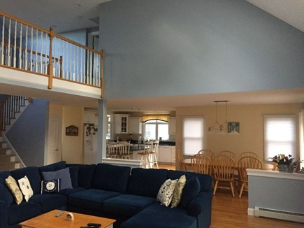 Popponesset, Mashpee Cape Cod vacation rental - Open Floor Plan with catwalk overlooking first floor