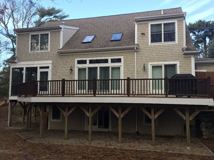 Popponesset, Mashpee Cape Cod vacation rental - View of back of house with wrap around  deck