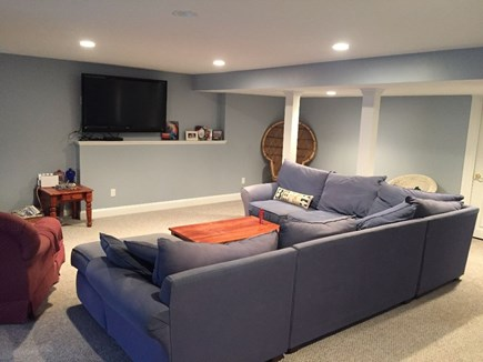 Popponesset, Mashpee Cape Cod vacation rental - Walkout Finished Basement with flat screen TV and bedroom