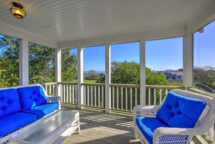 Chatham Cape Cod vacation rental - Beautiful View to Pleasant Bay from Upstairs Screened In Porch