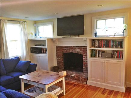 Brewster Cape Cod vacation rental - Living room with flat screen television and pull out couch