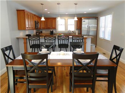Harwich Port Cape Cod vacation rental - Dining room sits 8, opens to kitchen