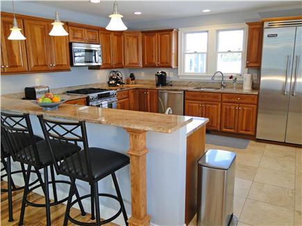 Harwich Port Cape Cod vacation rental - Large modern kitchen w breakfast bar, new appliances