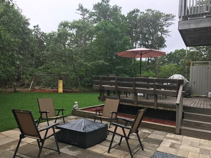 Harwich  Cape Cod vacation rental - Patio with fire pit!