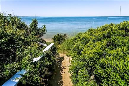 Eastham Cape Cod vacation rental - Path to private stairs leading to the beach