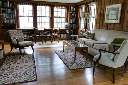 Cotuit Cotuit vacation rental - Living room with view of the Cowyard Bay