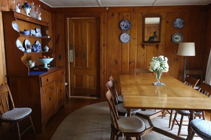 Cotuit Cotuit vacation rental - Dining room with view of the Cowyard Bay