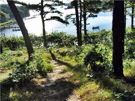 Cotuit Cotuit vacation rental - The path down to the beach (early spring)