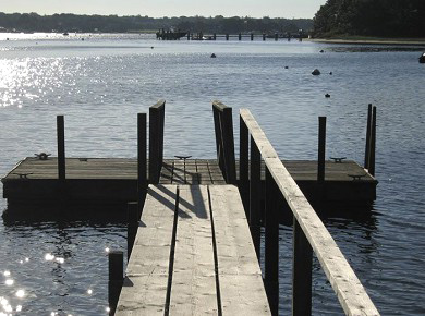 Cotuit Cotuit vacation rental - North Bay from the dock at sunset