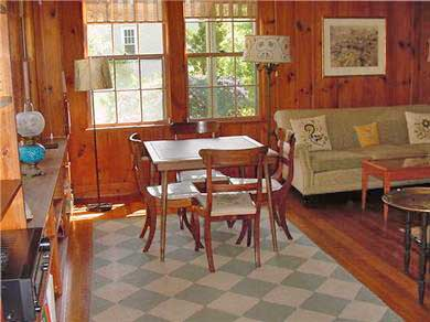 Cotuit Cotuit vacation rental - Living room, windows looking out on the bay at the left