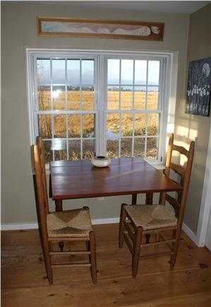 Sandwich Cape Cod vacation rental - Dining table in guest cottage.