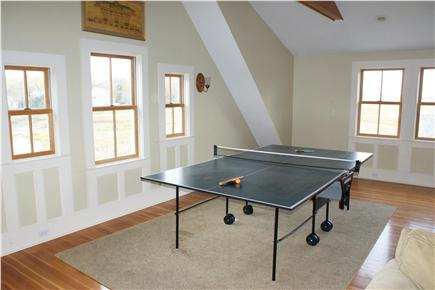 Sandwich Cape Cod vacation rental - Family room offers ping pong table, seating & wet bar