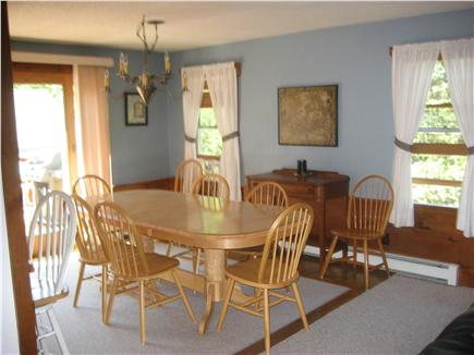 Dennis Cape Cod vacation rental - Dining area with sliders to the deck and yard