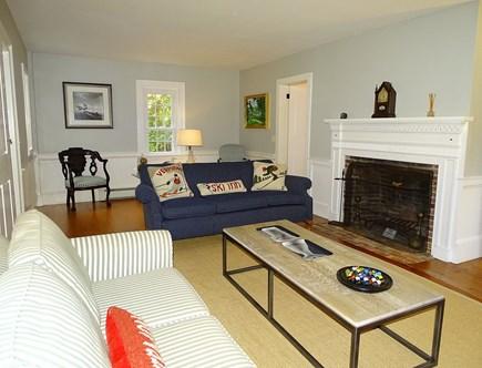 Dennis Cape Cod vacation rental - First floor TV room adjacent to queen and twin bedrooms