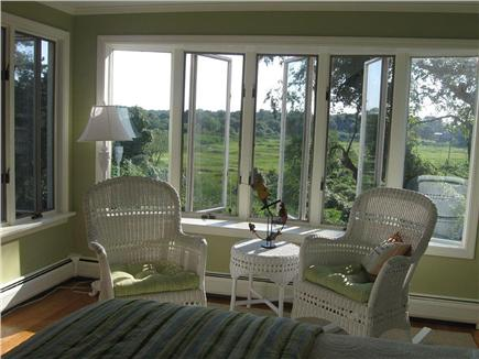 Barnstable Cape Cod vacation rental - Sitting area and views in master bedroom