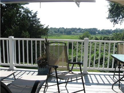 Barnstable Cape Cod vacation rental - Deck & View Over Tidal Marsh
