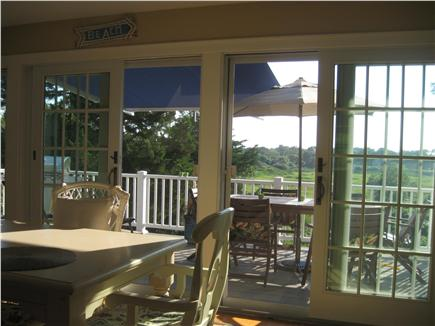 Barnstable Cape Cod vacation rental - Summer view from living/dining area to tidal marsh