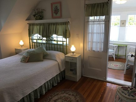 Harwich Port Cape Cod vacation rental - Upstairs queen bedroom w/ adjoining private enclosed porch
