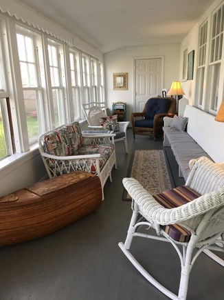 Harwich Port Cape Cod vacation rental - Enclosed downstairs porch on front of house