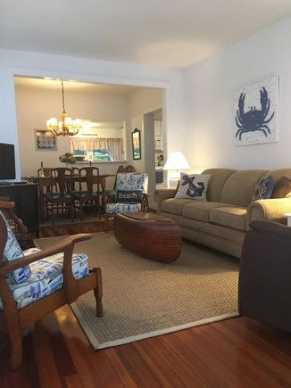 Harwich Port Cape Cod vacation rental - Living room and Dining room