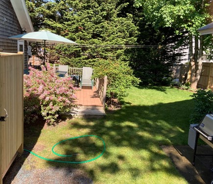 Harwich Port Cape Cod vacation rental - Private quiet backyard w/ deck and new outdoor shower