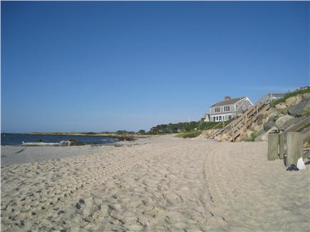 Harwichport Cape Cod vacation rental - Allen Harbor channel dredged and the sand was put on our beach