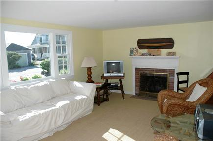 Harwichport Cape Cod vacation rental - Living room picture window looks to front yard