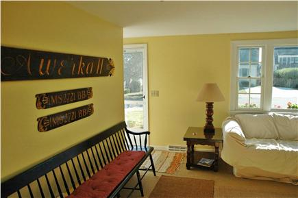 Harwichport Cape Cod vacation rental - Living room and entrance