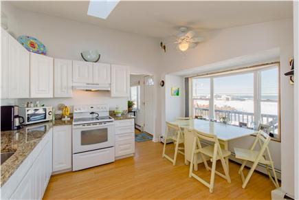 Plymouth MA vacation rental - Eat-in kitchen overlooking the beach