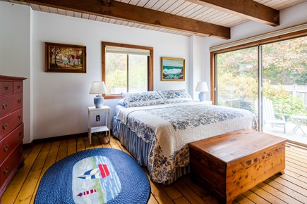 Orleans Cape Cod vacation rental - Main floor king bedroom with private deck
