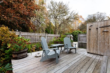 Orleans Cape Cod vacation rental - Deck with fully enclosed outdoor shower off of main floor king be