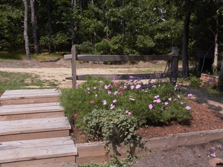 Wellfleet Cape Cod vacation rental - Deck steps to walking path.
