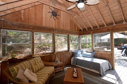 Truro Cape Cod vacation rental - 3 Season Porch with seating and daybed with trundle