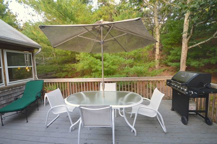 Truro Cape Cod vacation rental - Comfortable very private deck nestled in pines with gas grill and