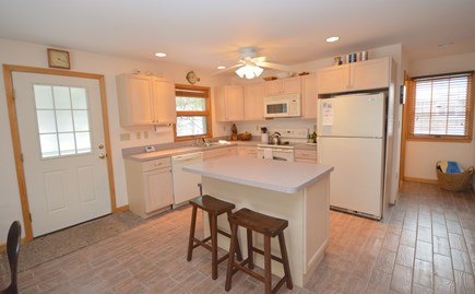 Truro Cape Cod vacation rental - Simple, clean and well equipped kitchen with breakfast bar.