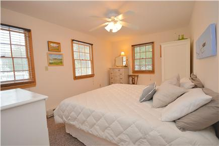 Truro Cape Cod vacation rental - King bedroom with Local Cape Cod Art