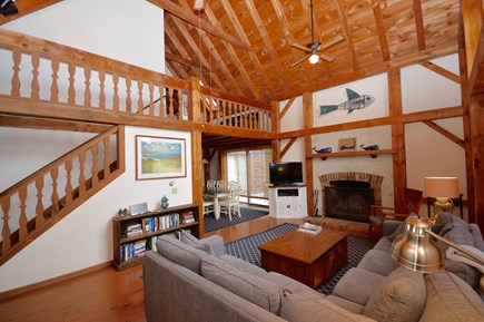 Orleans Cape Cod vacation rental - Beautiful living room with vaulted ceiling, large windows