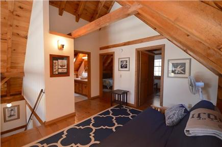 Orleans Cape Cod vacation rental - Upstairs loft area with futon overlooks vaulted living space and