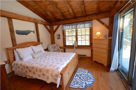 Orleans Cape Cod vacation rental - Downstairs Master bedroom with slider walk out to deck