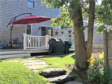 West Yarmouth Cape Cod vacation rental - Back yard deck and outside shower