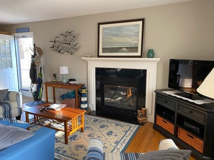 West Yarmouth Cape Cod vacation rental - Fireplace living room