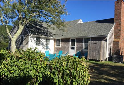 East Orleans Cape Cod vacation rental - Relaxing back yard setting with outdoor shower.