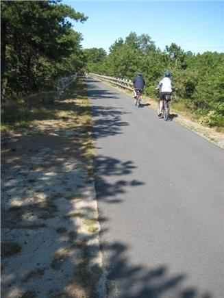 Wellfleet..adjacent to Bike Tr Cape Cod vacation rental - 22 mile paved  Rail Trail for biking & walking nearly next door