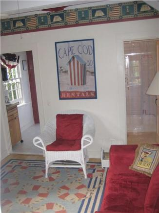 Wellfleet..adjacent to Bike Tr Cape Cod vacation rental - Sitting room facing kitchen and bath