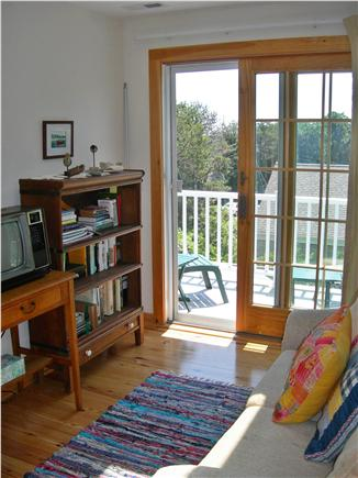 S. Chatham Cape Cod vacation rental - Second floor ''office area'' and mini deck with wireless internet