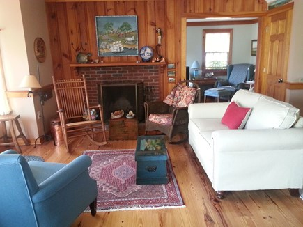S. Chatham Cape Cod vacation rental - Sitting room sofa faces the deck