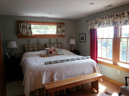 S. Chatham Cape Cod vacation rental - Master bedroom , king size bed large closets