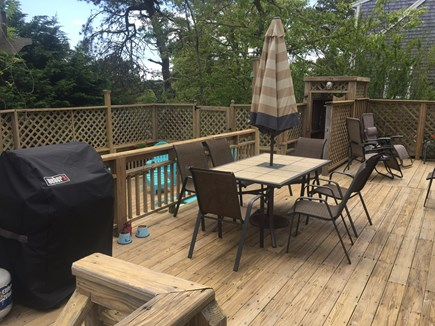 S. Chatham Cape Cod vacation rental - BBQ and upper deck