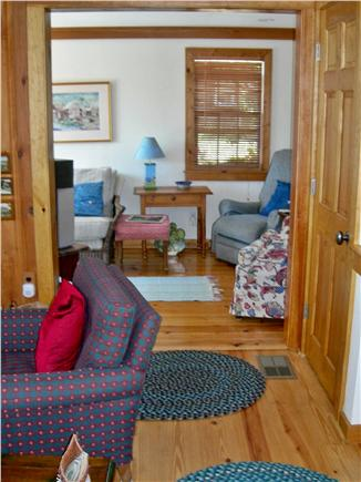 S. Chatham Cape Cod vacation rental - TV viewing area and another slider ont to the deck